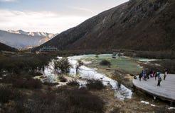 Lake in Huanglong royalty free stock photos