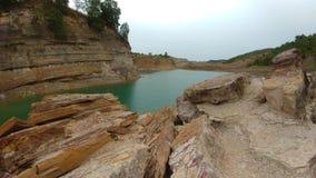 The lake. Human creature coal mining lake Stock Image