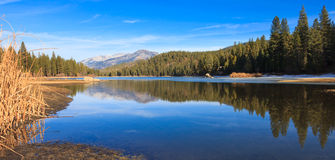 Lake Hume Panorama. Panorama of lake Hume in Sequoia and Kings Canyon National Park, California Royalty Free Stock Photos