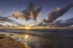 Lake Huron Beach at Sunset - Ontario, Canada Stock Photo