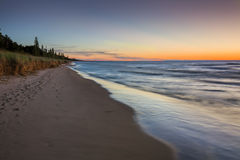 Lake Huron Beach after Sunset - Pinery Provincial Park Stock Image