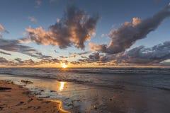 Lake Huron Beach at Sunset Royalty Free Stock Image