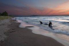 Lake Huron Beach at Twilight Royalty Free Stock Photography