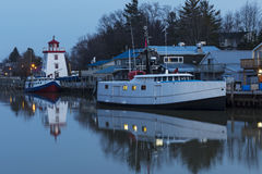 Lake Huron Harbour in Early Winter Royalty Free Stock Image