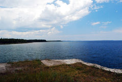 Lake huron. Over looking lake huron from rockport Royalty Free Stock Photography