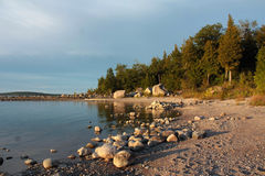 Lake Huron shoreline Stock Photo