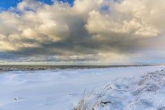 Lake Huron Shoreline in Winter Stock Images