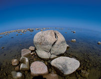 Lake Huron with stones Royalty Free Stock Photography