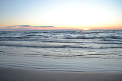 Lake Huron Sunset. Great Lake Huron sunset at Sauble Beach Ontario Stock Photos