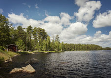 Lake Hyllsjon Sweden Royalty Free Stock Photo