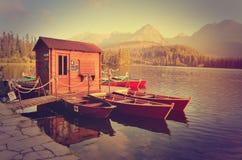 Lake i berg Arkivfoto