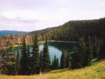 Lake i bergen royaltyfri bild