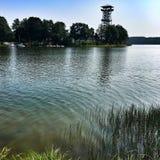 Lake i den infraröda bilden för Poland Arkivbild