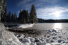 Lake & ice. Photo was made in Slovenia in the year 2006 Royalty Free Stock Photo