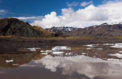 Lake with icebergs in Iceland Royalty Free Stock Image
