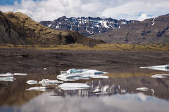 Lake with icebergs, Iceland Stock Photos