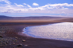 Lake in Iceland desert Royalty Free Stock Photos