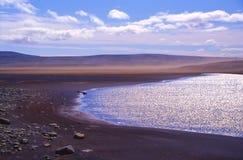 Lake in Iceland desert Royalty Free Stock Photos