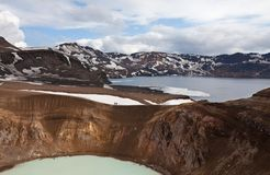 Lake in Iceland Royalty Free Stock Photography