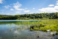 Lake of Ilay. In the french Jura region royalty free stock image