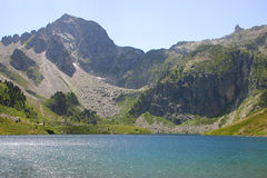 Lake Ilheou - Cyrque du Lys - Cauterets - Pyrenees. Mountain Lake in the Pyrenees Royalty Free Stock Photos