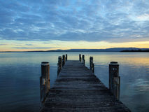 Lake Illawarra warf Stock Photo