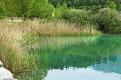 Lake. Image of Ledro's lake , Italy Royalty Free Stock Photography