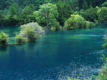 Lake In Jiuzhai Stock Photos