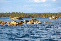 Lake Inari in Finland. Stock Image