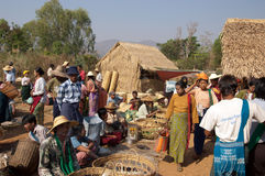 Lake Inle, MYANMAR - Friday Market Stock Photos