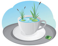 Lake inside a cup Stock Photo