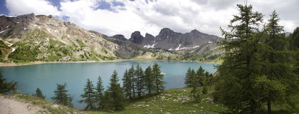 Lake int he French Alpes Royalty Free Stock Photo