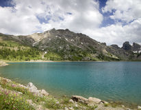 Lake int he French Alpes Royalty Free Stock Image