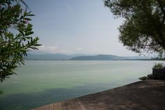 Lake at Ioannina Greece Royalty Free Stock Photos