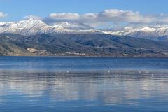 Lake Ioannina and Pindus Mountains, Epirus Stock Photography
