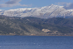 Lake Ioannina and Pindus Mountains, Epirus Royalty Free Stock Images