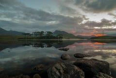 Lake Ireland. Irish lake clean as mirror in early morning sunrise royalty free stock photos