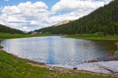 Lake Irene in Rocky Mountains Stock Image