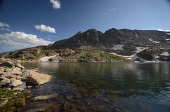 Lake Isabelle  - Colorado. Lake Isabelle below Navajo, Apache and Shoshoni Peaks in the Indian Peaks Wilderness Stock Photos