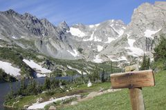 Lake Isabelle. From the Pawnee Pass Trail.  Indian Peaks Wilderness in Colorado Stock Image