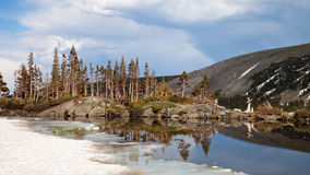 Lake Isabelle Reflections Stock Photo
