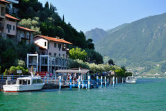 Lake Iseo, Italy stock photos