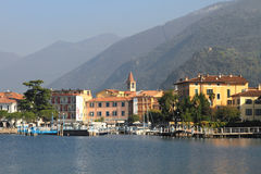 Lake Iseo in Italy Stock Image