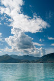 Lake Iseo, Lombardy, Italy. Lanscape of Lake Iseo, Lombardy, Italy Royalty Free Stock Images