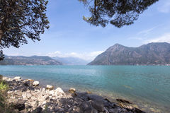 Lake Iseo in Lombardy, Italy. View of lake Iseo in Lombardy, Italy Stock Image