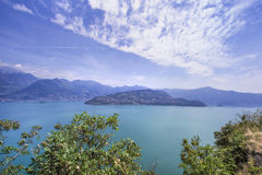 Lake Iseo in Lombardy, Italy. Royalty Free Stock Images