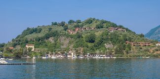 Lake Iseo near Sulzano,Italy Royalty Free Stock Image