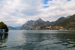 Lake Iseo and the surrounding mountain Stock Image