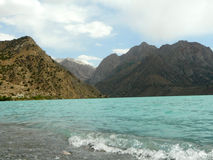 Lake Iskanderkul. Iskanderkul lake in the Fann mountains of Tajikistan Stock Image