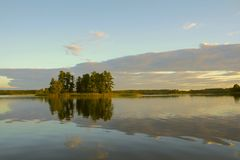 Lake island Stock Photos